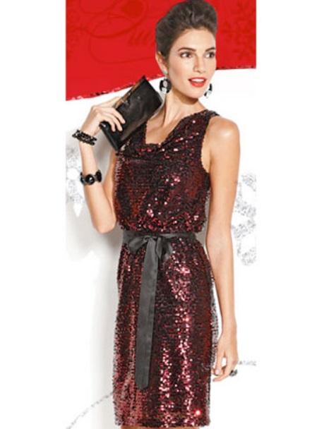 Christmas party dresses 2013 red sequins drapeneck dress